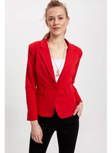 DeFacto Blazer Ceket Kırmızı